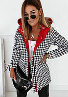 Куртка двухсторонняя женская зимняя Курточка короткая женская Демисезонная Дутая куртка женская Бомбер женский