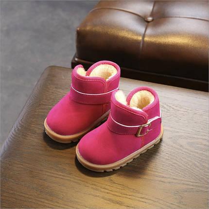 Угги детские зимние розовые  эко замш 26-30р., фото 2
