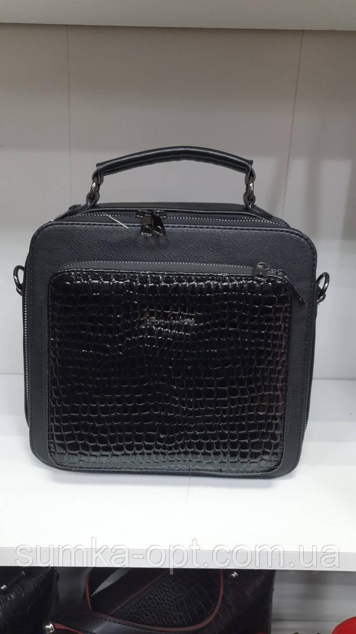 Женские стильные сумки (В ЧЕРНОМ)24*23см