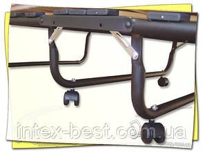 Раскладушка COMFORT ортопедическая на 15 ламелях с подголовником. Италия, фото 2