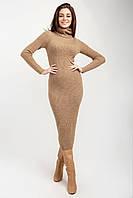 Модное красивое вязаное платье из итальянской пряжи Кемел 48/52 размер