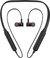 Беспроводные Bluetooth наушники Awei G10BL с шейным ободом (Черный)