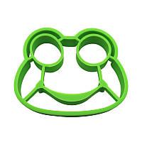 Силиконовая форма для жарки яиц CUMENSS Лягушка Green