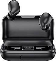 Беспроводные Bluetooth наушники Haylou T15 с чехлом-аккумулятором (Черный)