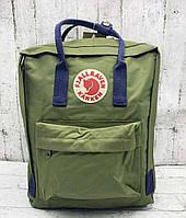 Молодежный рюкзак KÅNKEN 23567 зеленый, Рюкзаки с ручками Kanken в Украине. Огромный выбор