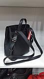Городские рюкзаки из искусств.кожи (ЧЕРНЫЙ+ЗАМША)22*25см, фото 3