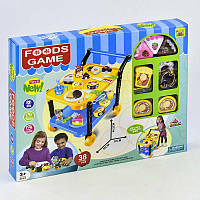 """Игровой набор """"Сладости"""" 36778-86 (24) с сервировочным столиком, продукты на липучках, в коробке"""
