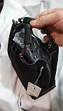 Женские сумки замша Китай (ЧЕРНЫЙ)25*20см, фото 2