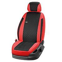 Автомобильные Модельные чехлы на сиденья Volkswagen Polo 2009- цельный EMC-Elegant ELAR 245 Антара + Экокожа