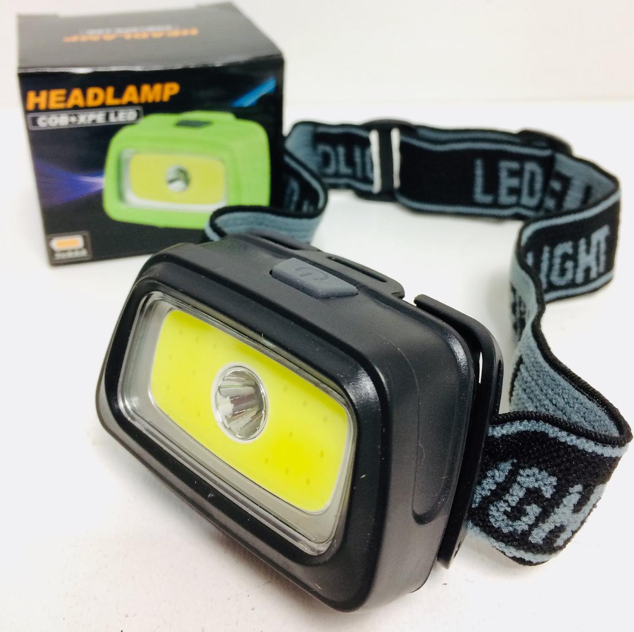 Налобный фонарик WD-324 ( 1 LED+COB+3*AAA )