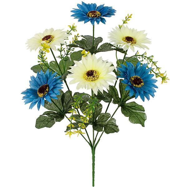 Искусственные цветы хризантема двухцветная, 36см( 30 шт в уп.)