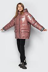 Модная зимняя подростковая куртка для девочек Камилла тм Cvetkov размеры 140 - 158