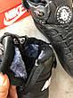 Мужские зимние кроссовки с мехом в стиле Nike Huarache Acronym Concept Full Black черные, фото 2