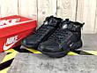 Мужские зимние кроссовки с мехом в стиле Nike Huarache Acronym Concept Full Black черные, фото 4