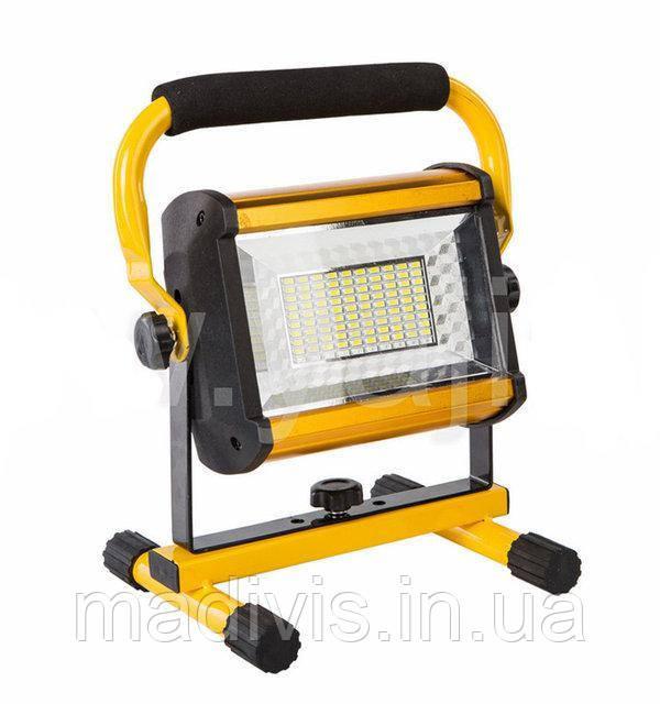 Прожектор ліхтар Outdoor LED W808 100 W світлодіодний від мережі і від акумуляторних батарей