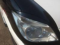 Mercedes Sprinter 2006-2018 гг. Реснички Прямые (черные, ABS, 2006-2013) Черный мат