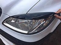 Mercedes Vito W639 2004-2015 гг. Реснички прямые (2 шт, пластик) Черный мат