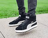 Мужские зимние ботинки Puma Platform Mid OW, ботинки пума платформ, чоловічі зимові черевики Puma Platform Mid, фото 3