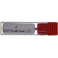 """Насадка для фрезера керамическая Master Professional F 3/32"""" Small Cone (C) Красная"""