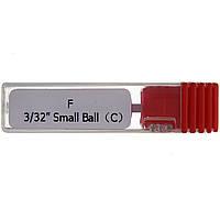 """Насадка для фрезера керамическая Master Professional F 3/32"""" Small Ball (C) Красная"""