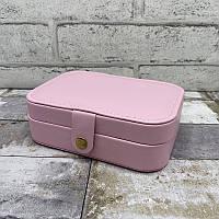 Шкатулка для украшений 7732. Однотонная шкатулка для украшений цвет розовый