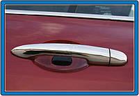 Renault Clio и Symbol 2006-2009 гг. Накладки на ручки (нерж.) 2 шт, Carmos - Турецкая сталь