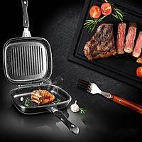 Сковорода двухсторонняя для гриля и жарки A-PLUS 30 см (1500)