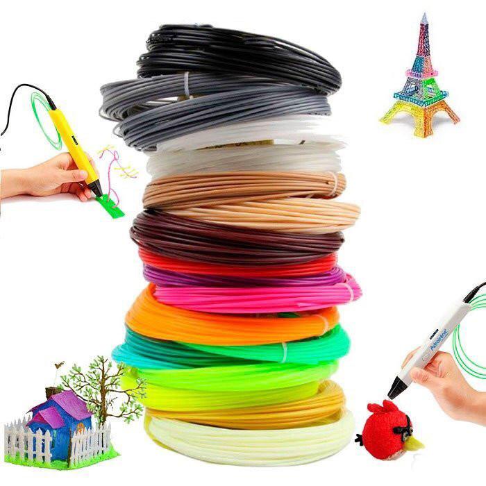 Пластиковые нити PLA для 3D ручек 20 шт
