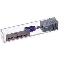 """Насадка для фрезера твердосплавная Master Professional M 3/32"""" Middle Barrel (Каленая сталь)"""