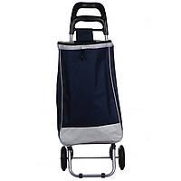 Тачка сумка с колесиками STENSON тележка до 25 кг 34 х 27 х 94 см (2079) Железные колеса