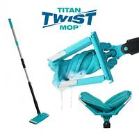Универсальная швабра Titan Twist Mop вращается на 360 градусов с отжимом (6757)