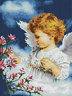"""Алмазна мозаїка """"Ангелочок дівчинка"""" 30х40 см"""