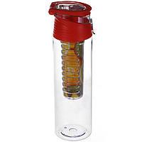 Бутылка для напитков My Bottle с колбой под фрукты (700MB) Красная