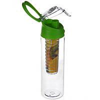 Бутылка для напитков My Bottle с колбой под фрукты (700MB) Зеленая