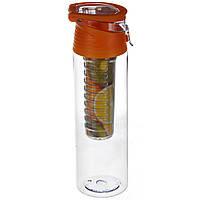 Бутылка для напитков My Bottle с колбой под фрукты (700MB) Желтая