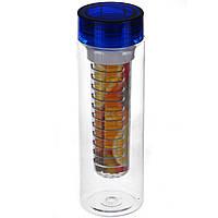 Бутылка для напитков Fruit Juice с колбой под фрукты (0427)