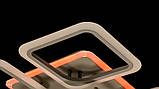 Потолочная прямоугольная люстра с диммером и LED подсветкой A8060/6+2GR LED 3color dimmer, фото 8