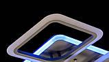 Потолочная прямоугольная люстра с диммером и LED подсветкой A8060/6+2GR LED 3color dimmer, фото 7