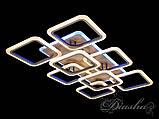 Потолочная прямоугольная люстра с диммером и LED подсветкой A8060/6+2GR LED 3color dimmer, фото 3