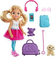 Кукла Барби Челси и набор для путешествий Barbie Travel Chelsea Doll Mattel.