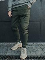 Спортивные штаны Staff basic khaki fleece, фото 1
