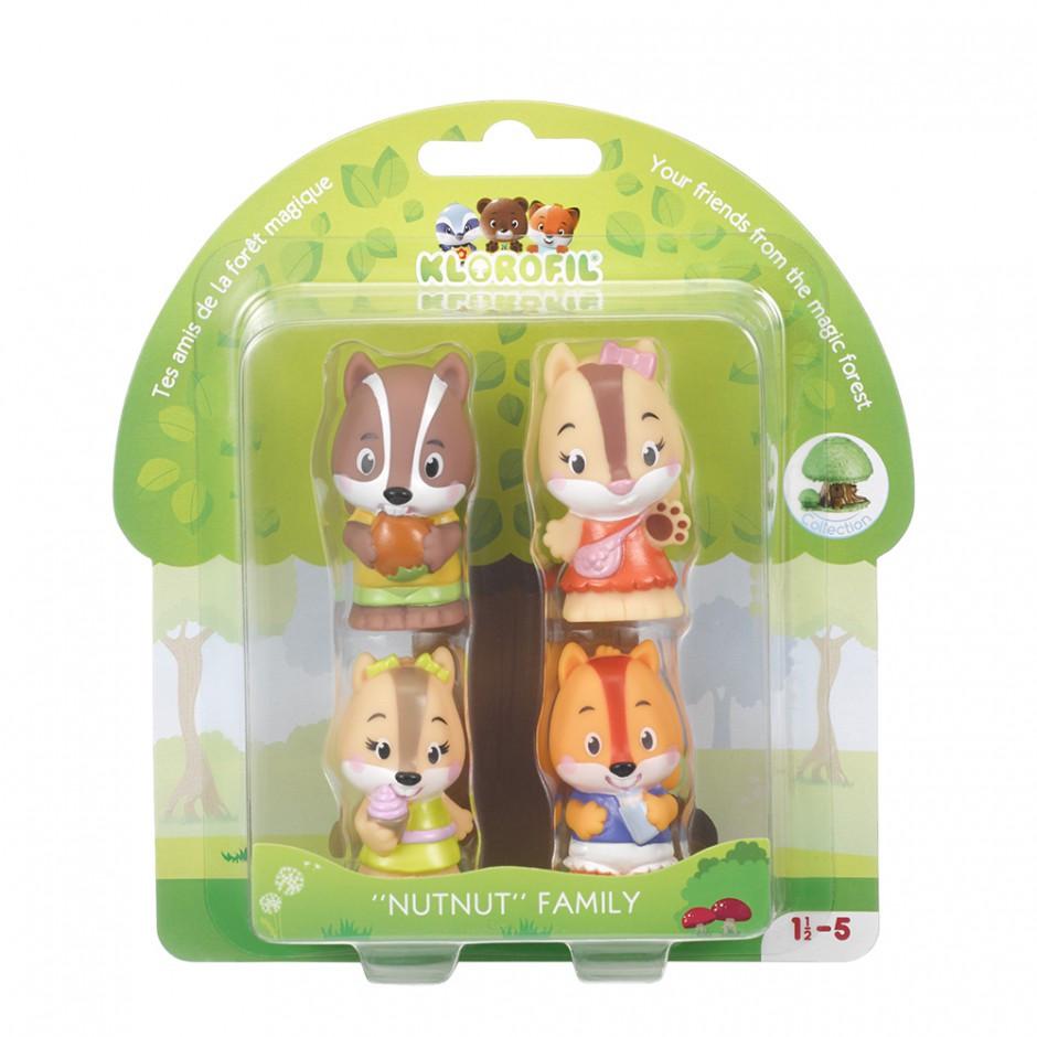 Набор игрушек для детей семья барсуков Klorofil