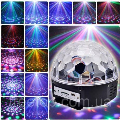 Светодиодный диско-шар Magic Ball с флешкой и пультом управления