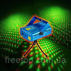 Лазерный проектор Mini Laser Stage Lighting W001 стробоскоп дождь