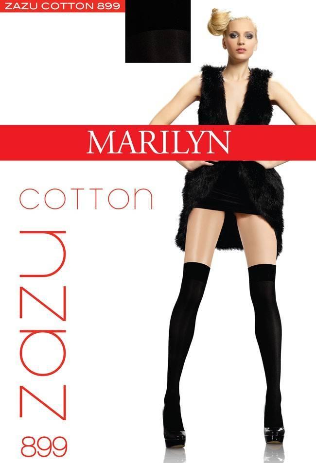Гетры, заколеновки, носки MARILYN ZAZU COTTON 899 100 DEN Черный, unica