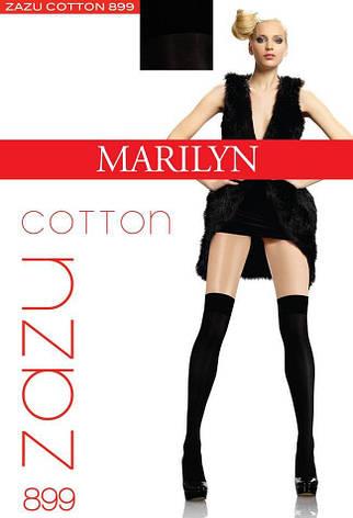 Гетры, заколеновки, носки MARILYN ZAZU COTTON 899 100 DEN Черный, unica, фото 2