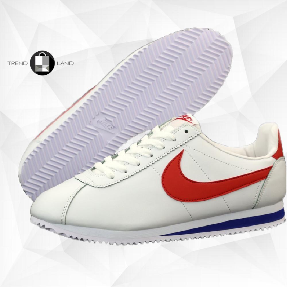 Мужские кроссовки в стиле Nike Air Cortez White/Red