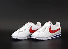 Мужские кроссовки в стиле Nike Air Cortez White/Red, фото 2