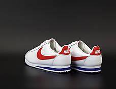 Мужские кроссовки в стиле Nike Air Cortez White/Red, фото 3