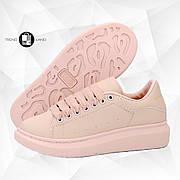 Женские кроссовки в стиле Alexander McQueen Leather Pink